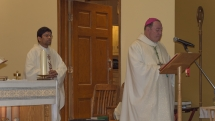 Bishop Colli and Fr. Arokiam